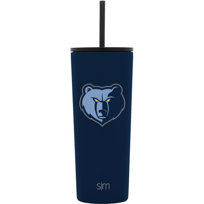 24oz Classic Tumbler Memphis Grizzlies 24oz Classic Tumbler with Flip Lid and Straw