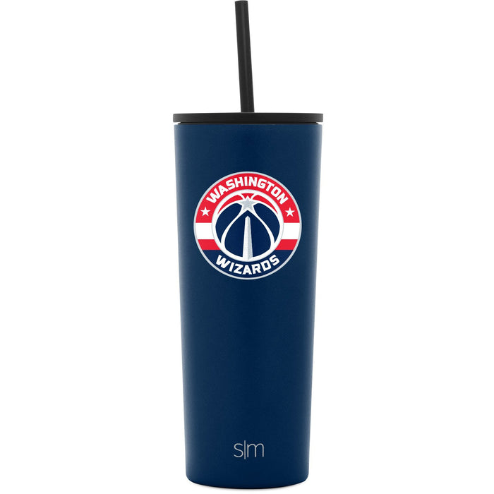 Washington Wizards 24oz Classic Tumbler with Flip Lid and Straw