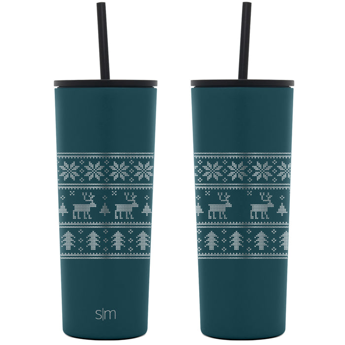 Laser Engraved Holiday Collection Classic Tumbler  - 24oz