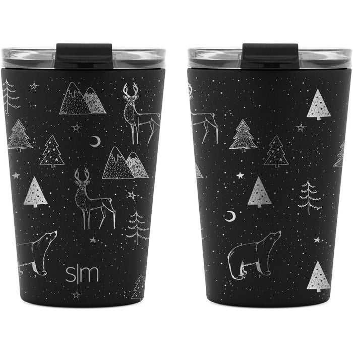 Laser Engraved Holiday Collection Classic Tumbler with Clear Flip Lid and Straw  - 12oz Classic