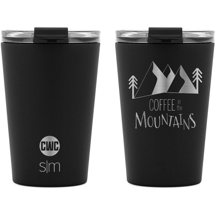 "Coffee with Colton ""Mountain Coffee"" Classic Tumbler with Clear Flip Lid and Straws - 12oz"