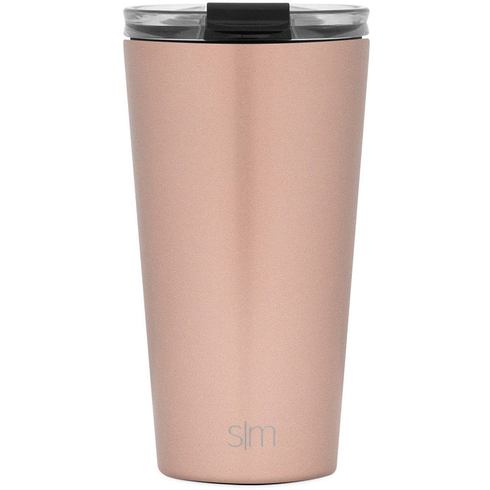 Rose Gold Classic Tumbler with Clear Flip Lid Classic Tumbler with Clear Flip Lid & Straw - 16oz