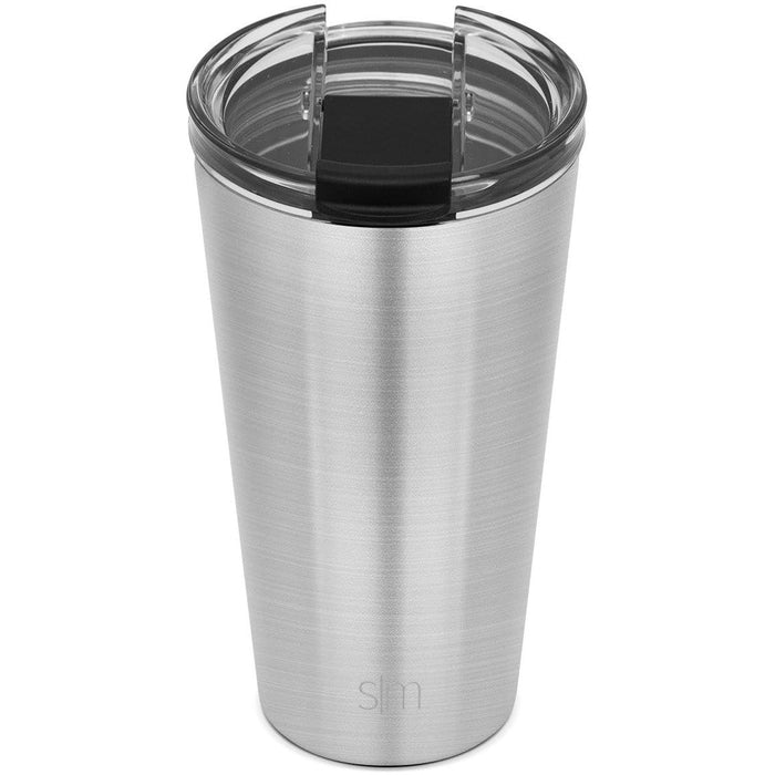 Simple Stainless Classic Tumbler with Clear Flip Lid Classic Tumbler with Clear Flip Lid & Straw - 16oz