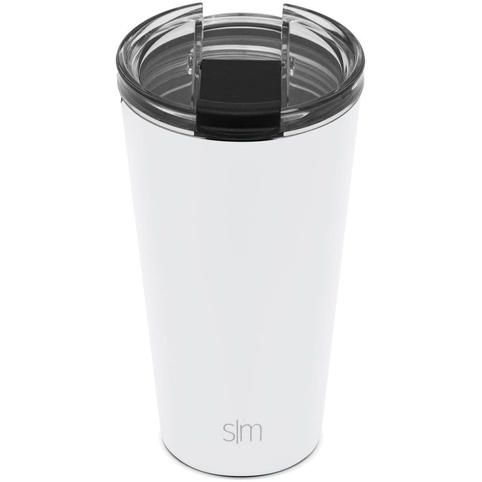 Winter White Classic Tumbler with Clear Flip Lid Classic Tumbler with Clear Flip Lid & Straw - 16oz