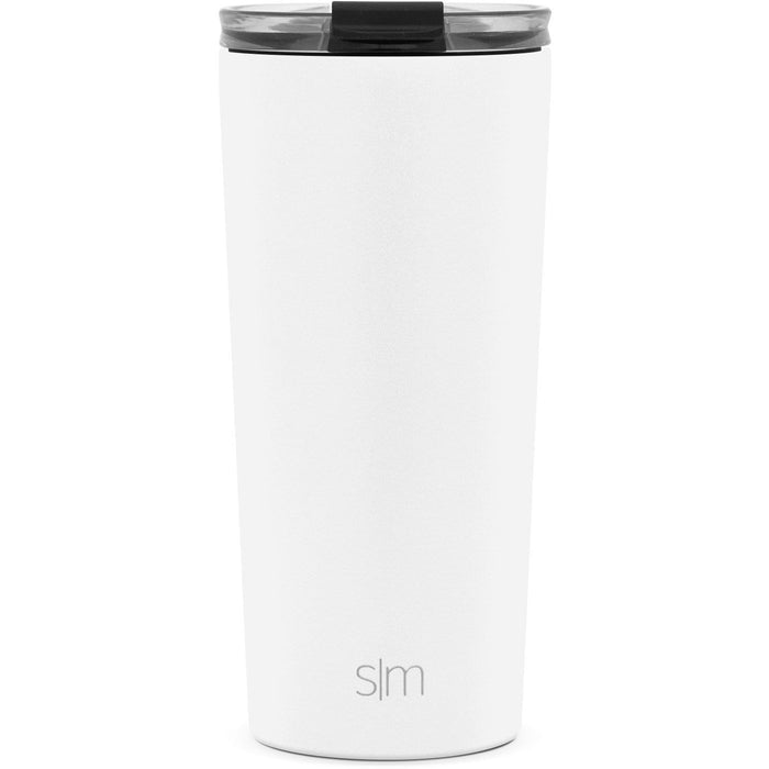 Simple Modern 20oz Classic Tumbler with Clear Flip Lid Winter White