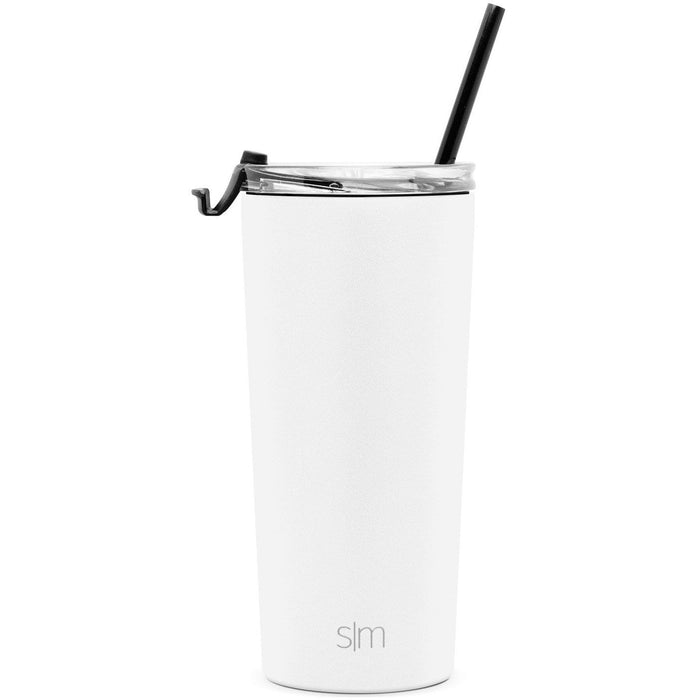 Simple Modern 20oz Classic Tumbler with Clear Flip Lid Midnight Black