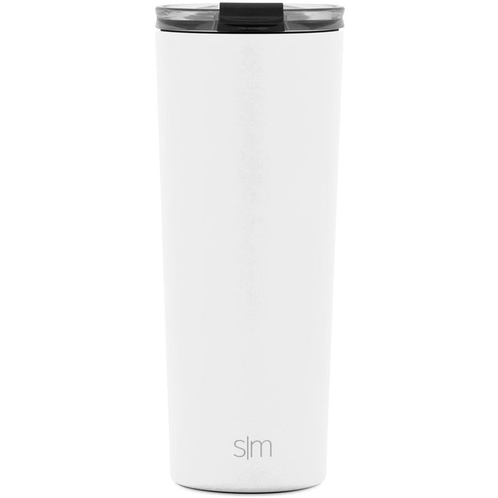 Winter White Classic Tumbler with Clear Flip Lid Classic Tumbler with Clear Flip Lid & Straw - 24oz