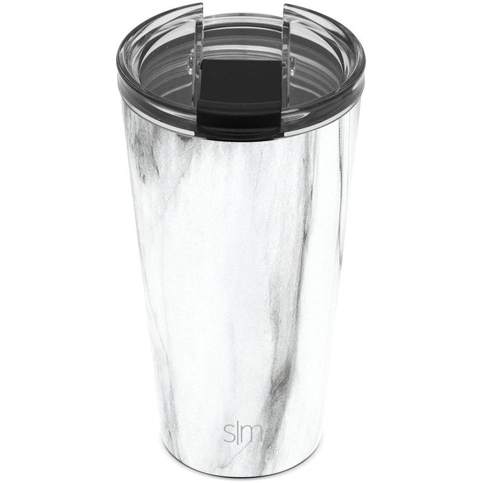 Carrara Marble Classic Tumbler with Clear Flip Lid Classic Tumbler with Clear Flip Lid & Straw - 16oz