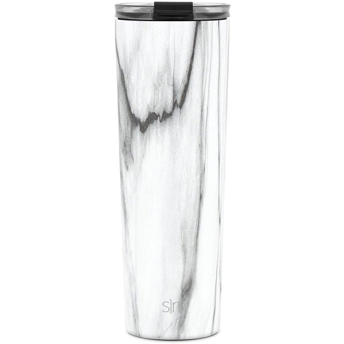 Carrara Marble Classic Tumbler with Clear Flip Lid Classic Tumbler with Clear Flip Lid & Straw - 28oz