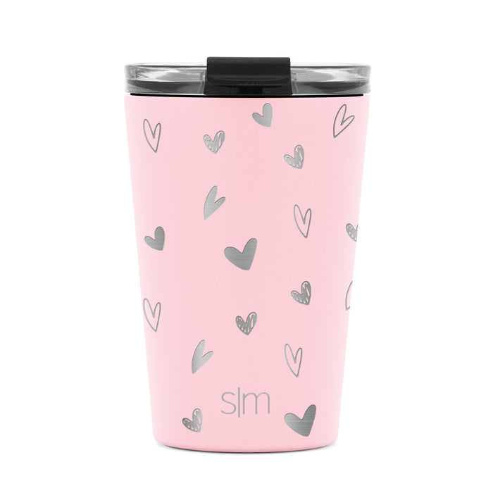 Laser Engraved Valentine's Day Collection Classic Tumbler with Clear Flip Lid  - 12oz
