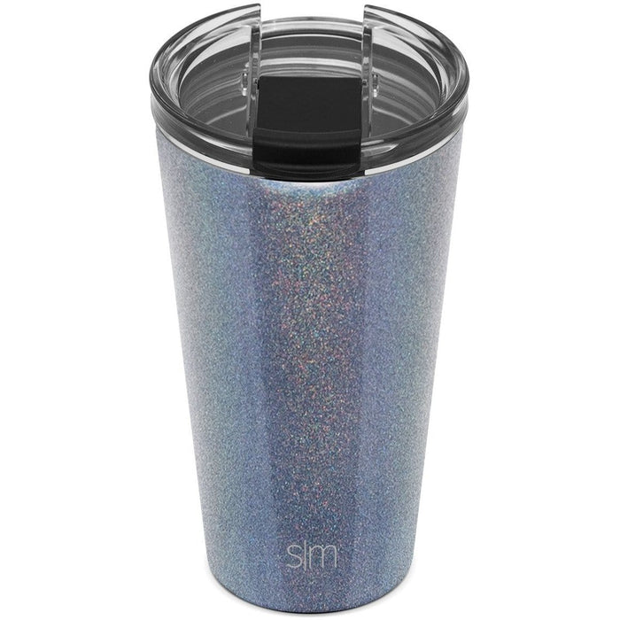 Blue Moonstone Classic Tumbler with Clear Flip Lid Classic Tumbler with Clear Flip Lid & Straw - 16oz