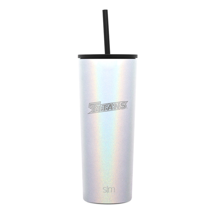 Collegiate Laser Engraved Classic Tumbler with Straw Lid & Flip Lid - 24oz
