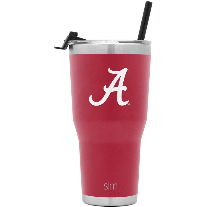 University of Alabama 30oz Tumbler with Flip Lid & Straw