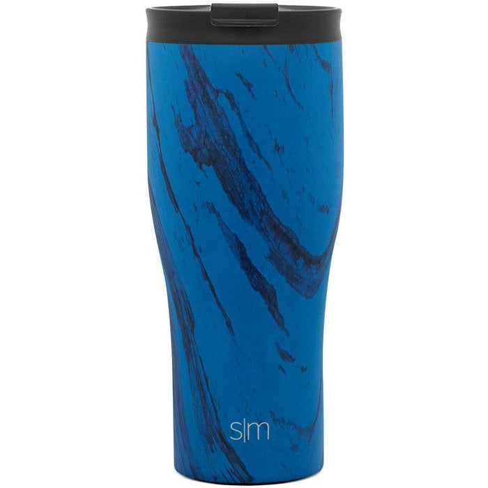Sapphire Wood Grain Journey Tumbler Journey Travel Mug - 20oz