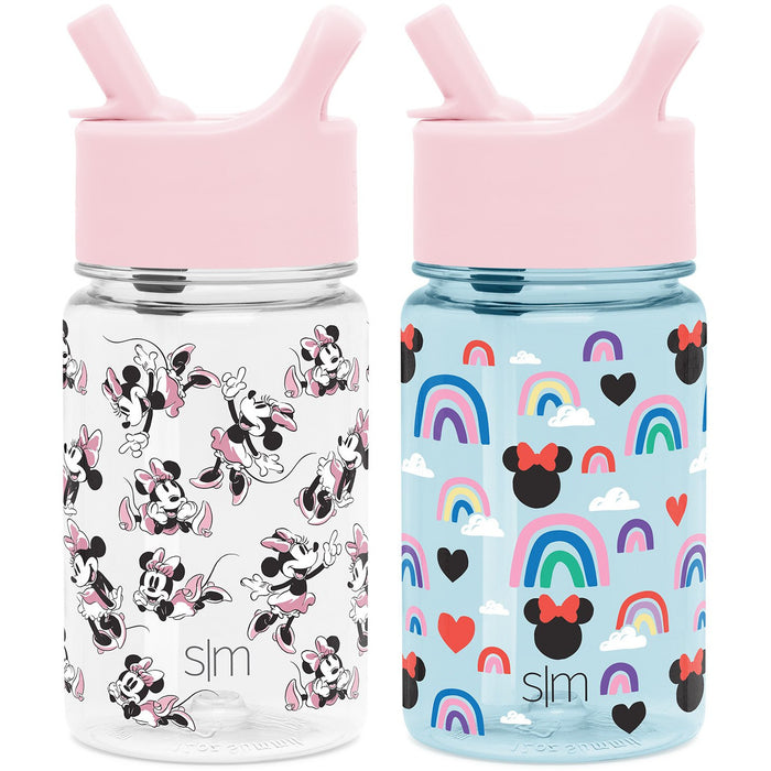 Summit Kids Tritan Plastic Water Bottle with Straw Lid Two-Pack - 12oz