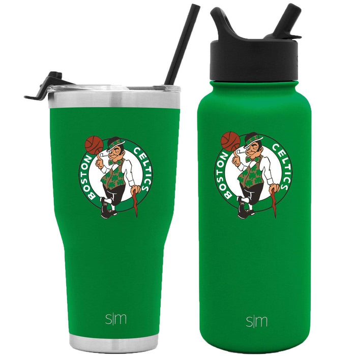 NBA Bundle Boston Celtics 30oz Cruiser Tumbler with Straw and 32oz Summit with Straw Lid Bundle