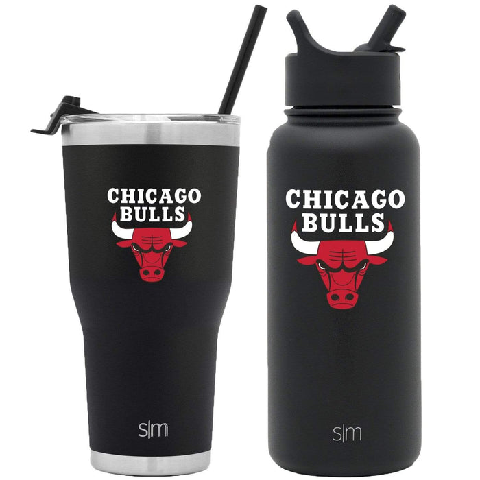NBA Bundle Chicago Bulls 30oz Cruiser Tumbler with Straw and 32oz Summit with Straw Lid Bundle