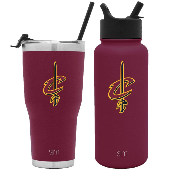 NBA Bundle Cleveland Cavaliers 30oz Cruiser Tumbler with Straw and 32oz Summit with Straw Lid Bundle