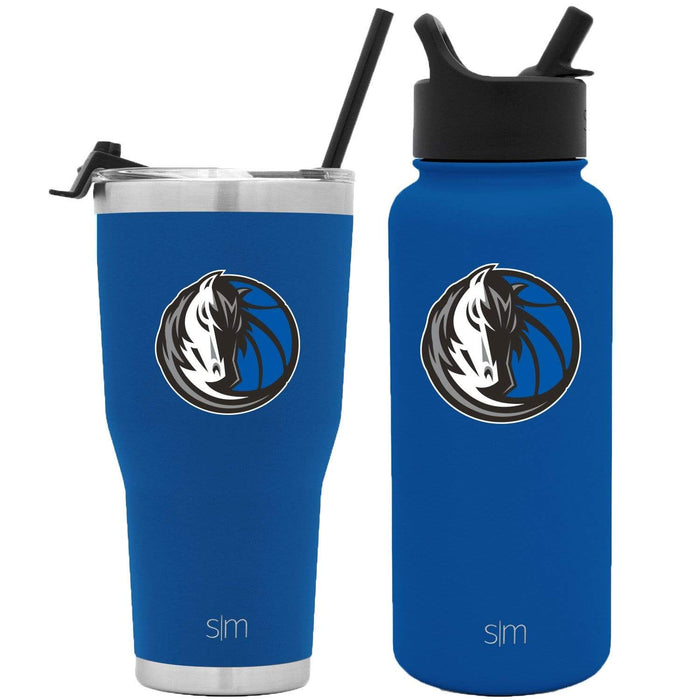 NBA Bundle Dallas Mavericks 30oz Cruiser Tumbler with Straw and 32oz Summit with Straw Lid Bundle