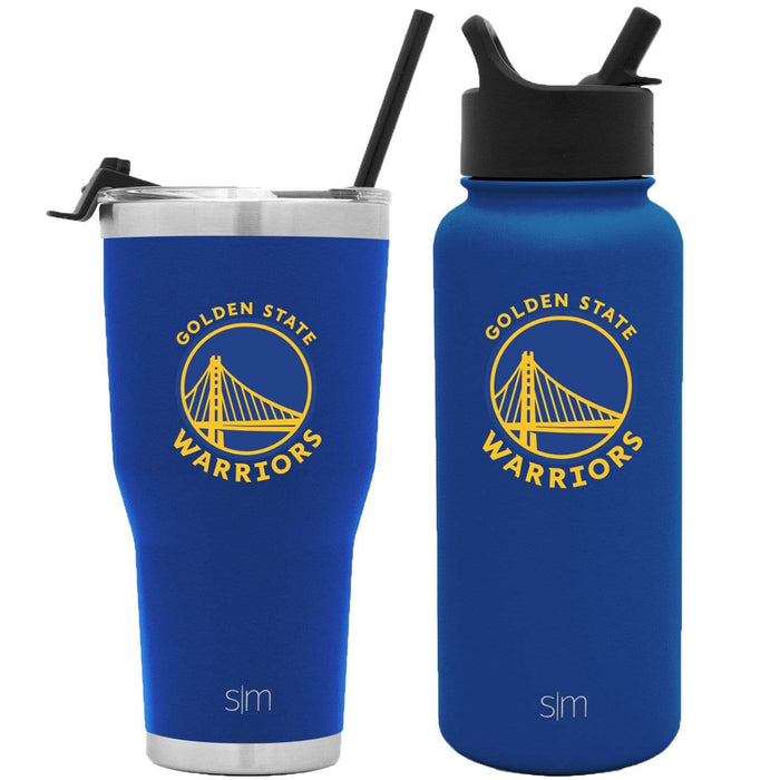 NBA Bundle Golden State Warriors 30oz Cruiser Tumbler with Straw and 32oz Summit with Straw Lid Bundle