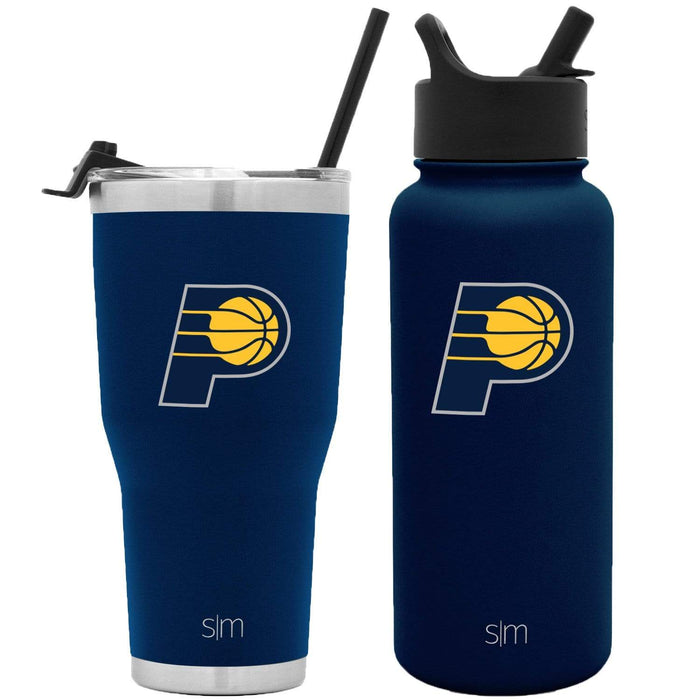 NBA Bundle Indiana Pacers 30oz Cruiser Tumbler with Straw and 32oz Summit with Straw Lid Bundle