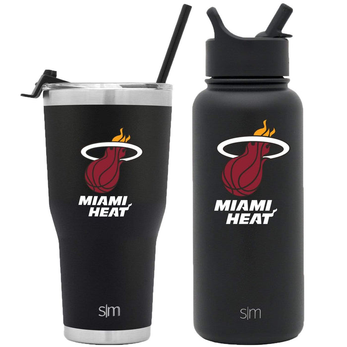 NBA Bundle Miami Heat 30oz Cruiser Tumbler with Straw and 32oz Summit with Straw Lid Bundle