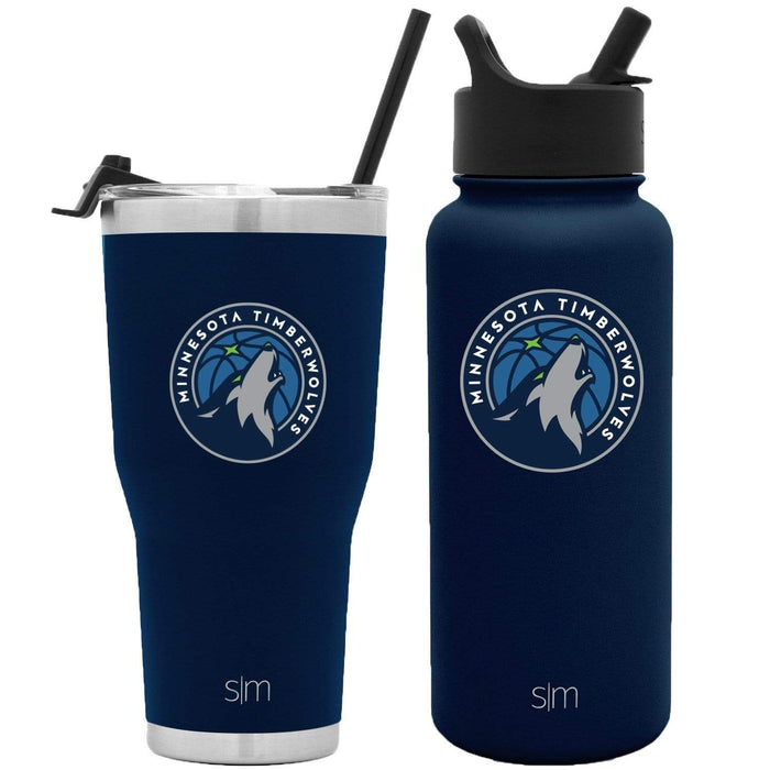 NBA Bundle Minnesota Timberwolves 30oz Cruiser Tumbler with Straw and 32oz Summit with Straw Lid Bundle