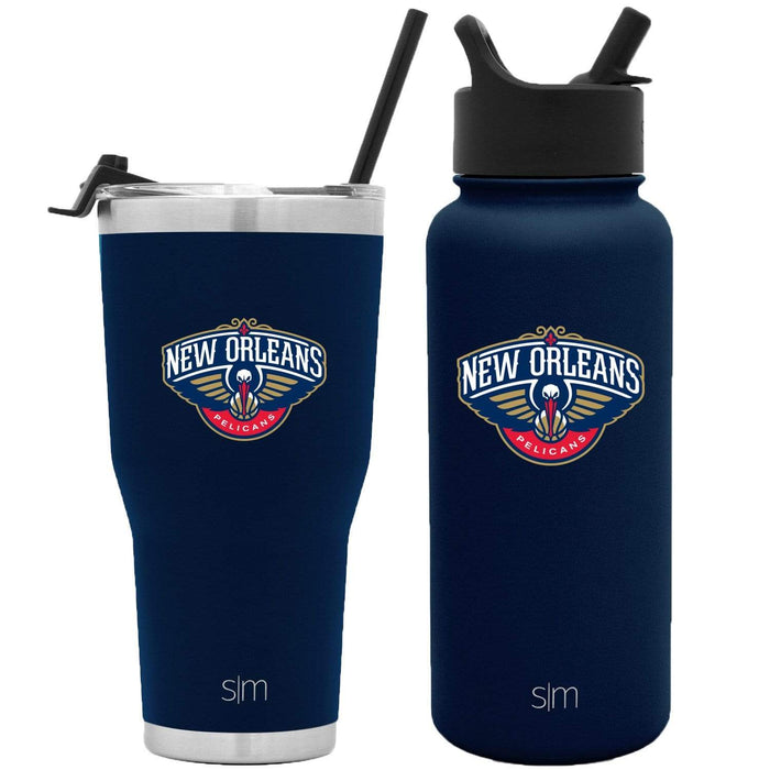 NBA Bundle New Orleans Pelicans 30oz Cruiser Tumbler with Straw and 32oz Summit with Straw Lid Bundle