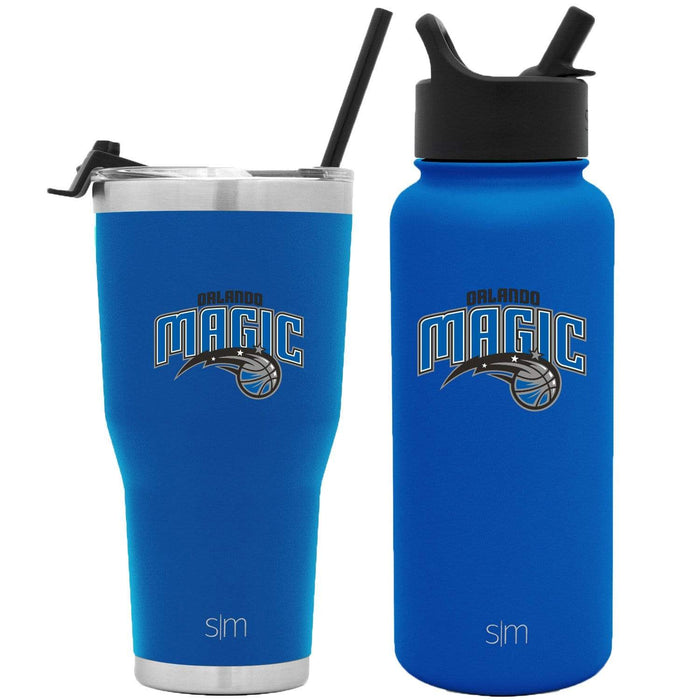 NBA Bundle Orlando Magic 30oz Cruiser Tumbler with Straw and 32oz Summit with Straw Lid Bundle