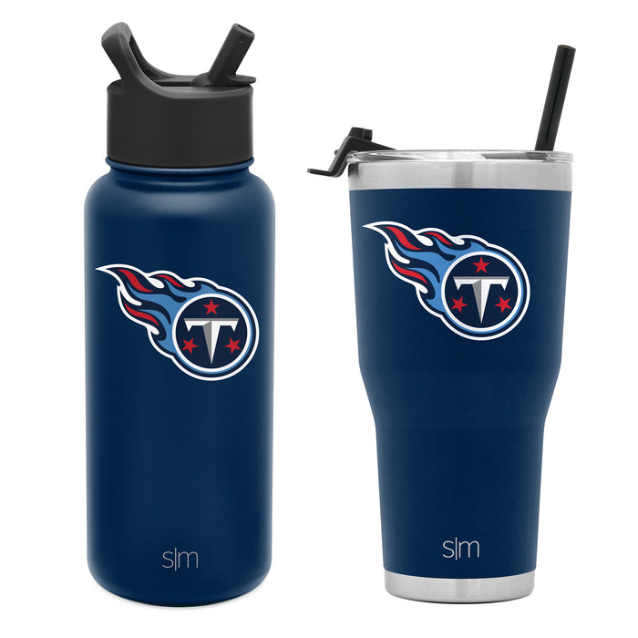 NFL 30oz Cruiser Tumbler & 32oz Summit Water Bottle Bundle