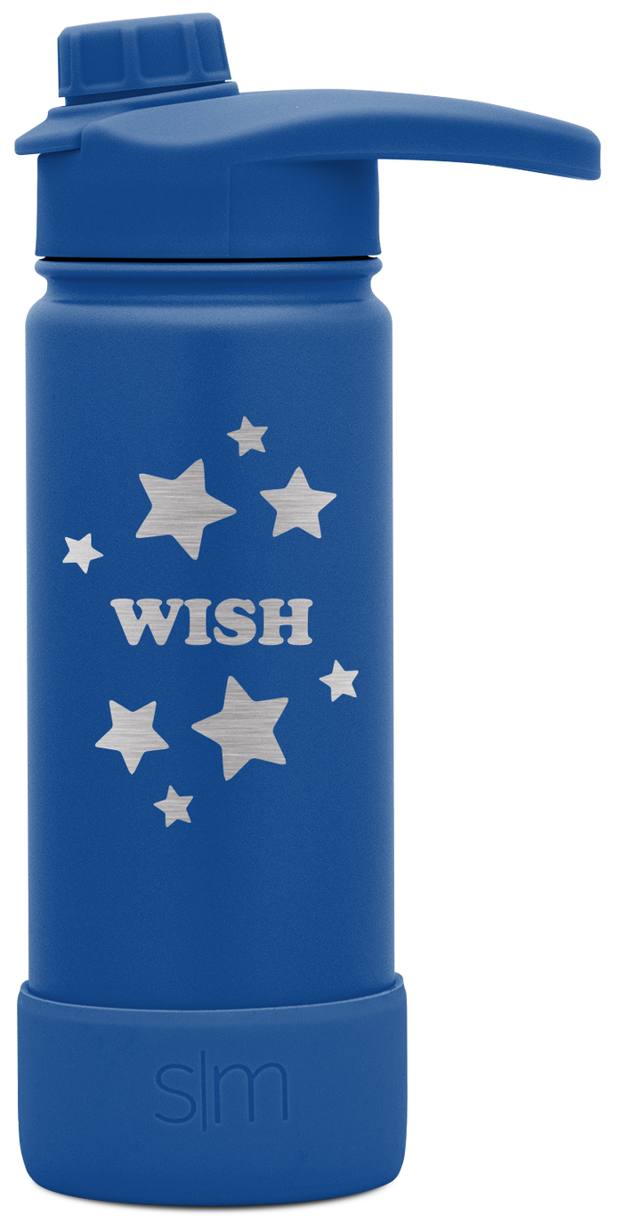 Make-A-Wish Summit Bottle with Boot and Chug Lid - 18oz