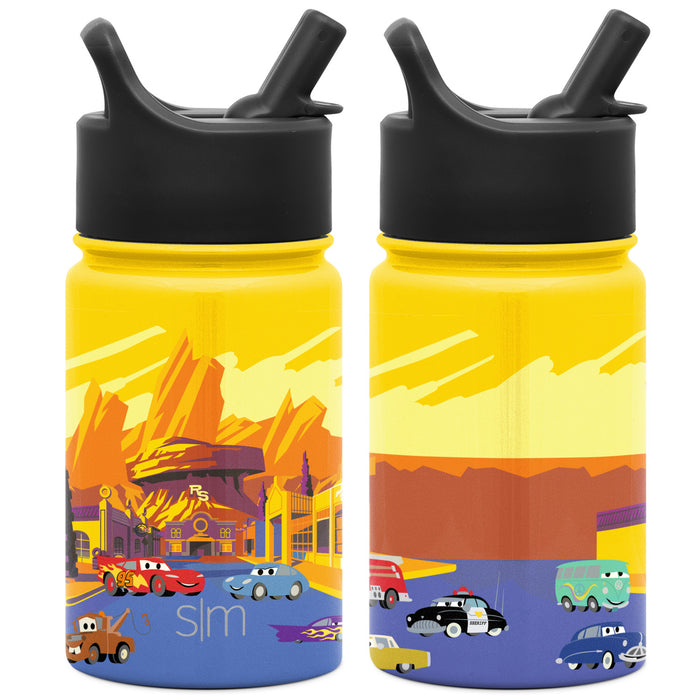 Disney Cars Radiator Springs Summit Water Bottle with Straw Lid Summit Kids Water Bottle with Straw Lid - 10oz