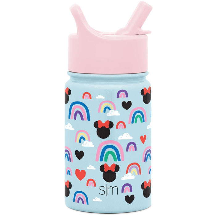 Disney Minnie Mouse Rainbow Summit Water Bottle with Straw Lid Summit Kids Water Bottle with Straw Lid - 10oz