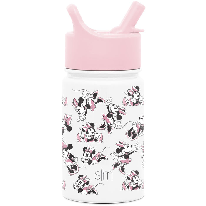Disney Minnie Mouse Retro Summit Water Bottle with Straw Lid Summit Kids Water Bottle with Straw Lid - 10oz