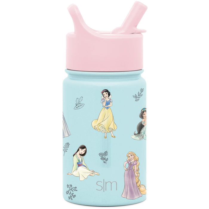 Disney Princess Royal Beauty Summit Water Bottle with Straw Lid Summit Kids Water Bottle with Straw Lid - 10oz