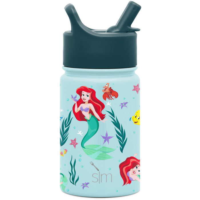 Disney The Little Mermaid Ariel's Treasures Summit Water Bottle with Straw Lid Summit Kids Water Bottle with Straw Lid - 10oz