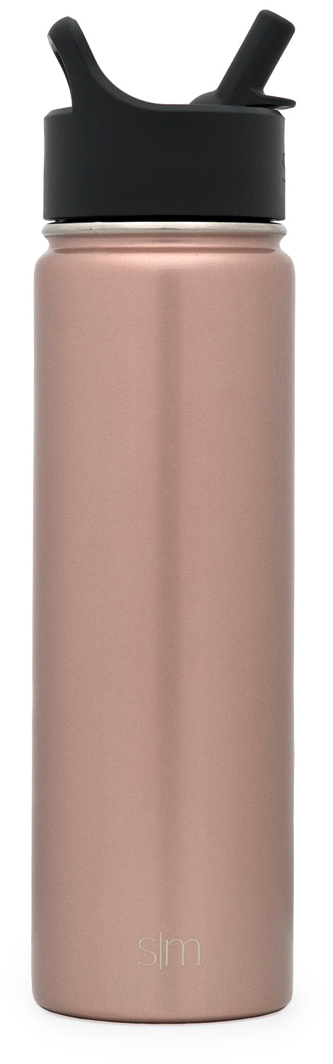 Rose Gold Summit Water Bottle with Straw Lid Summit Water Bottle with Straw Lid - 22oz
