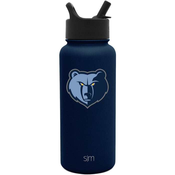 32oz Summit Water Bottle Memphis Grizzlies 32oz Summit Water Bottle with Straw Lid