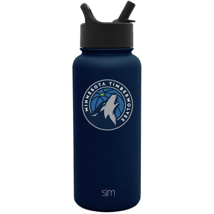 32oz Summit Water Bottle Minnesota Timberwolves 32oz Summit Water Bottle with Straw Lid