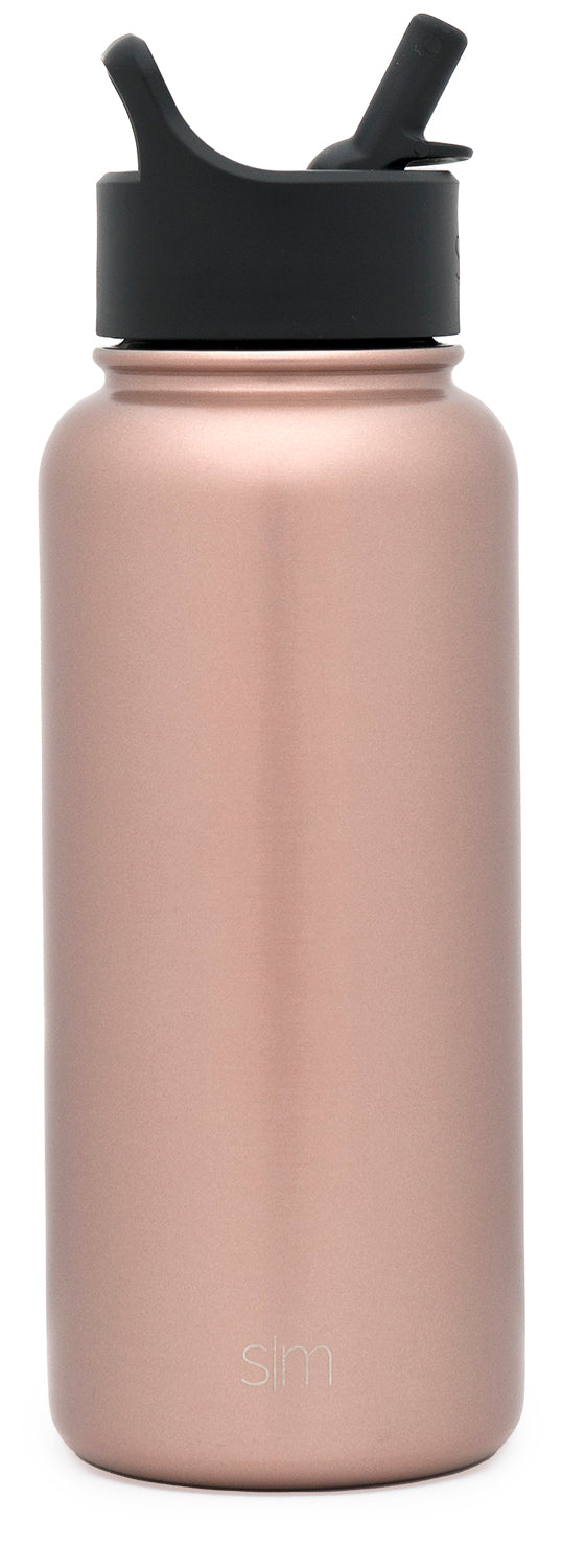 Rose Gold Summit Water Bottle with Straw Lid Summit Water Bottle with Straw Lid - 32oz