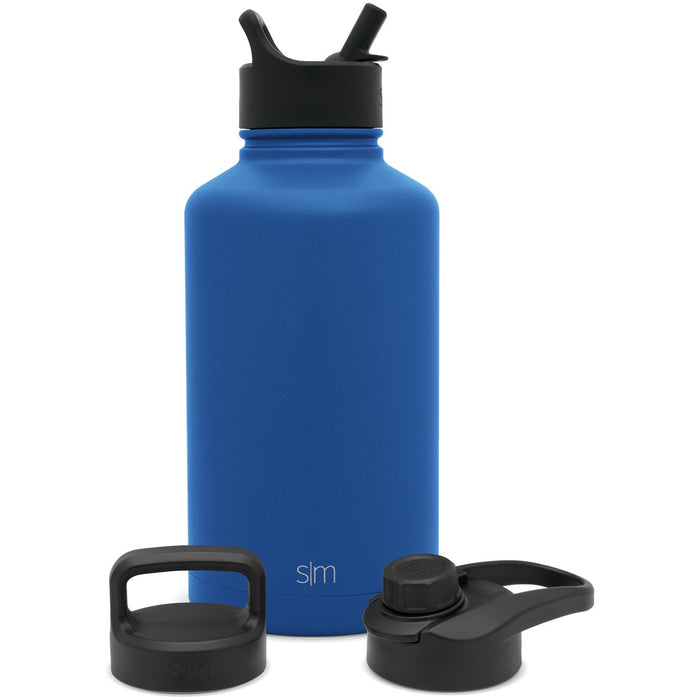 Summit Water Bottle with Straw Lid, Chug Lid, and Handle Lid - 64oz