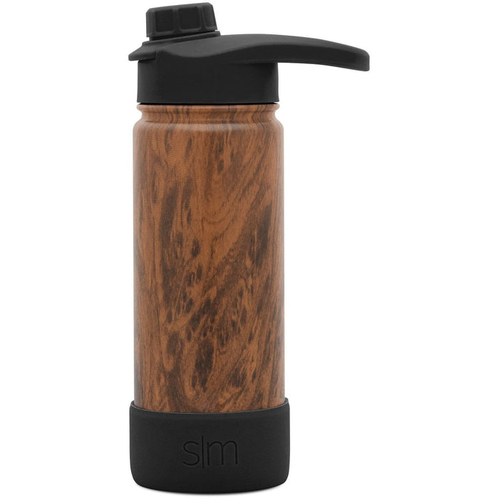 Wood Grain Summit Water Bottle with Chug Lid Summit Water Bottle with Chug Lid & Boot - 18oz