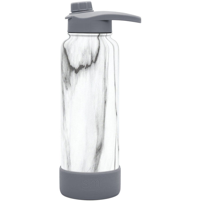 Carrara Marble Summit Water Bottle with Chug Lid Summit Water Bottle with Chug Lid & Boot - 40oz