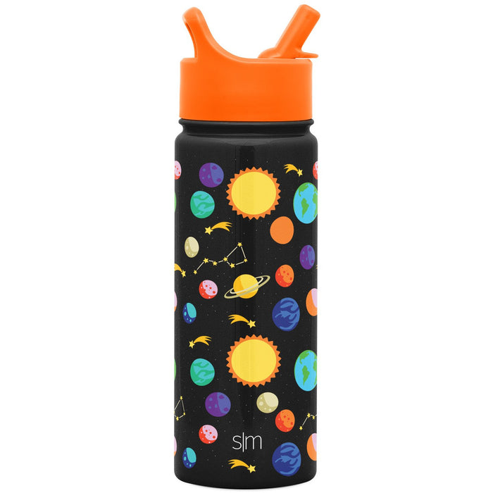 Solar System Summit Water Bottle with Straw Lid Summit Kids Water Bottle with Straw Lid - 18oz