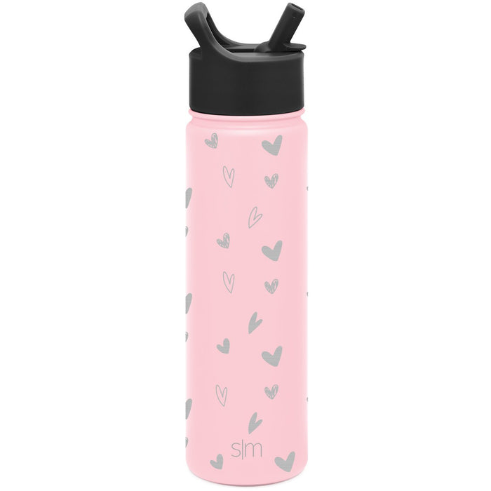 Laser Engraved Valentine's Day Collection Summit Water Bottle with Straw Lid - 22oz