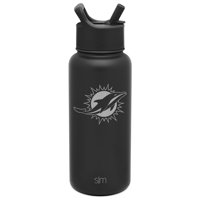 NFL Laser Engraved Summit Water Bottle with Straw Lid - 32oz