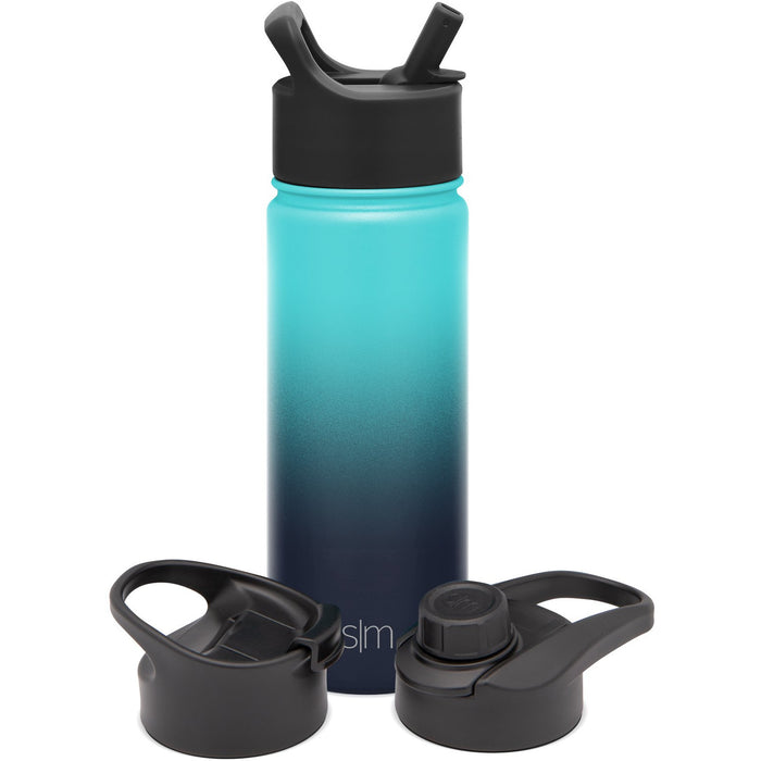 Summit Water Bottle with Straw Lid, Chug Lid, and Flip Lid - 18oz