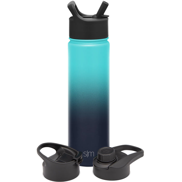 Summit Water Bottle with Straw Lid, Chug Lid, and Flip Lid - 22oz