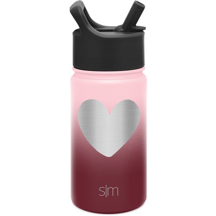 Laser Engraved Valentine's Day Collection Summit Water Bottle with Straw Lid - 14oz