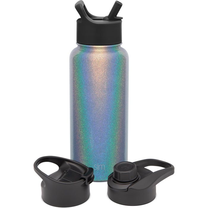 Summit Water Bottle with Straw Lid, Chug Lid, and Flip Lid - 32oz